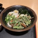 元咲 - 料理写真:山菜ぶっかけ温。