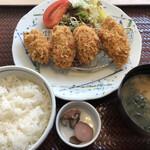 築地食堂 源ちゃん - カキフライ定食(1,180円)