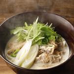 大江ノ郷製麺所 - 料理写真:豚しゃぶ豆乳うどん【期間限定】
