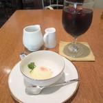 ルシェール - デザートは、柚子シャーベット  +¥100でアイスコーヒー