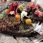 13990392 - イベリコ肩ロースと牛ハラミの炭火ステーキ盛り合わせ