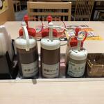 松のや - 料理写真:テーブル調味料