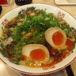 博多金龍 - 辛口ネギラーメン煮玉子