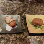 WA-DINNER き - 蟹クリームコロッケと板前コロッケ