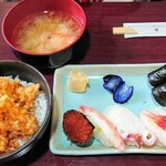 三好寿し - 「おまかせミニ天丼セット」①
