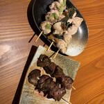 薩摩の台所しげぞう - 焼き鳥の器具をこだわっているらしく、美味しかったです