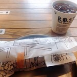 R.O.STAR - サンドイッチとアイスティー