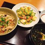 沖縄そば やんばる - ランチのゴーヤーちゃんぷるー定食にジーマミー豆腐