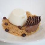 ミキモトラウンジ - 水出しコーヒーのブランマンジェとチョコレートアイス(1300円)♥