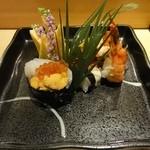 寿し若 - おまかせ寿司の一部。にぎり以外です。