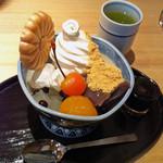菊丸 - 黒蜜きなこソフトあんみつ