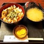 米徳 - 穴子丼 ¥1,365 焼き立て!
