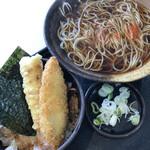 ゆで太郎 - 料理写真:ミニのり弁セット 580円