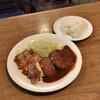 亜樹 - 料理写真:●B定食¥1230税込 ・ハンバーグ ・ポークソテー ・クリームコロッケ ・カップスープ