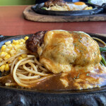 くいしんぼステ-キハウス - デミチーズハンバーグ ライススープお代わり自由750円税込