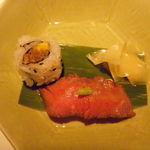 アトリエ森本ゼックス - 和牛一口ロール&握り寿司