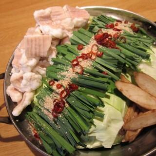 醤油、味噌から選べる【もつ鍋】はこれからの時期にぴったり◎
