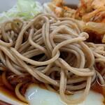 永當蕎麦 - 「天玉蕎麦(440円)」麺部アップ