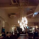 椿サロンsapporo - 牛乳瓶をぶら下げた照明.JPG