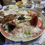 栄美屋旅館 - 伊勢海老祭り(刺身盛り合わせ)