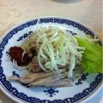 翠凰楼 - おいしい鳥肉のネギ油かけ 500円