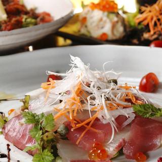 お魚のカルパッチョサラダ仕立て…693円