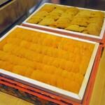 Kagurazaka sushi tamura - 紫ウニ(シアトル産)・馬糞ウニ(北海道産)