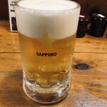 味の牛たん 喜助 発祥の店 - 生ビール(中)(550円)