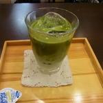 甘味茶屋 茶○ - 抹茶ラテ、タピオカ入り、380円
