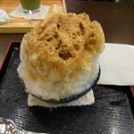 甘味茶屋 茶○ - 黒蜜黄粉あずき、450円