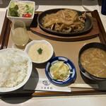 お食事処 十和田八戸丸 - 本場十和田産 アップルポーク 豚バラ焼きランチ