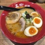 海老豚骨拉麺 春樹 - えび豚骨拉麺(塩)+半熟卵