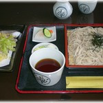 そば処 舌つづみ - 相盛り、天ぷらつき 1100円