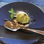 三田屋 - 抹茶アイスのデザート