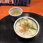 五右衛門 - セットのスープと追加したサラダ(+80円)