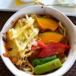 丘の宿 こえる - カレーうどん 焼き麺