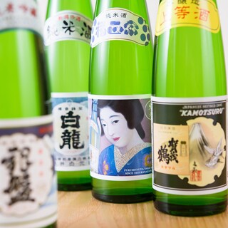 """ご飯にぴったりの""""日本酒""""もご用意。ライスバーガーと相性抜群"""