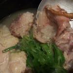 まだん - サムゲタン 鶏肉はトロトロ~♪