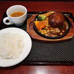 140075798 - 洋食屋さんのハンバーグ定食
