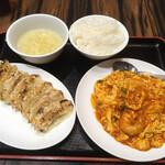 珉珉 - 定食セット(1,300円)。食べログ予約専用メニュー?