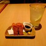 Niwakayachousuke - 雲仙ハムカツ、レモンサワー