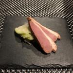 創作串料理 Dining Juicys - 前菜。鴨とザーサイの浅漬け