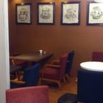 ル サロン カフェ フロ - 壁の奥にも席が…!
