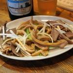 哈爾濱餃子 - 2012.7 もりあわせ(500円)豚耳、豚舌、豚ハツ