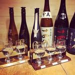 日本酒バル Chintara - 飲み比べセット