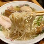中華そば おばん菜 鶴亀 - 特製中華そば(塩)