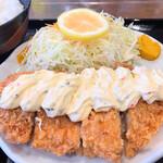 豚菜 - ハーフチキンカツ定食