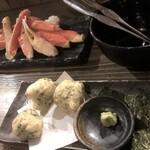 いろり家 別邸 - 蟹と山芋揚げ