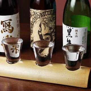 種類豊富な<飲み比べ>で、あなたにピッタリの日本酒を!