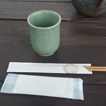ダッタン蕎麦 寿庵 - おしぼり&お茶